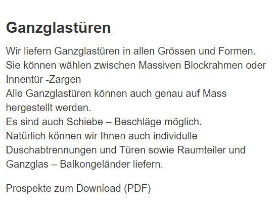 Glanzglastüren für  Reutlingen